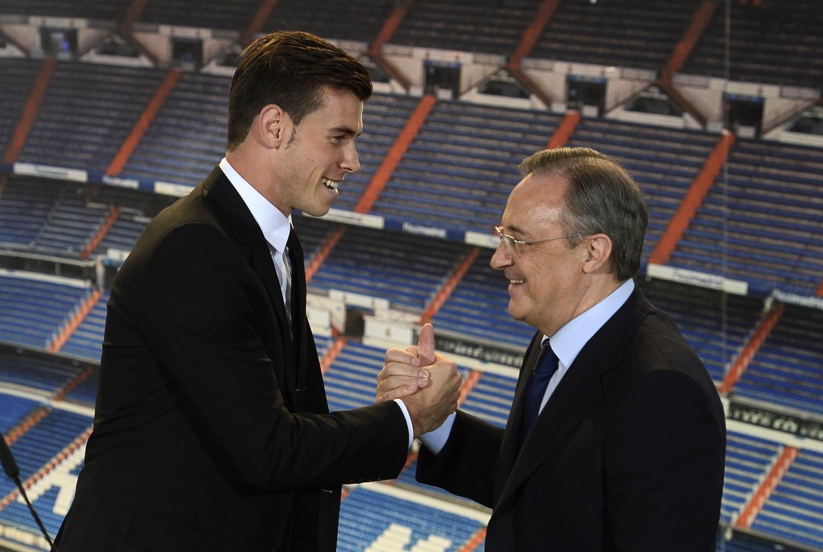 Gareth Bale and Florentino perez