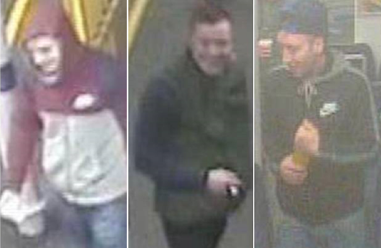 Police seek top hat attack trio