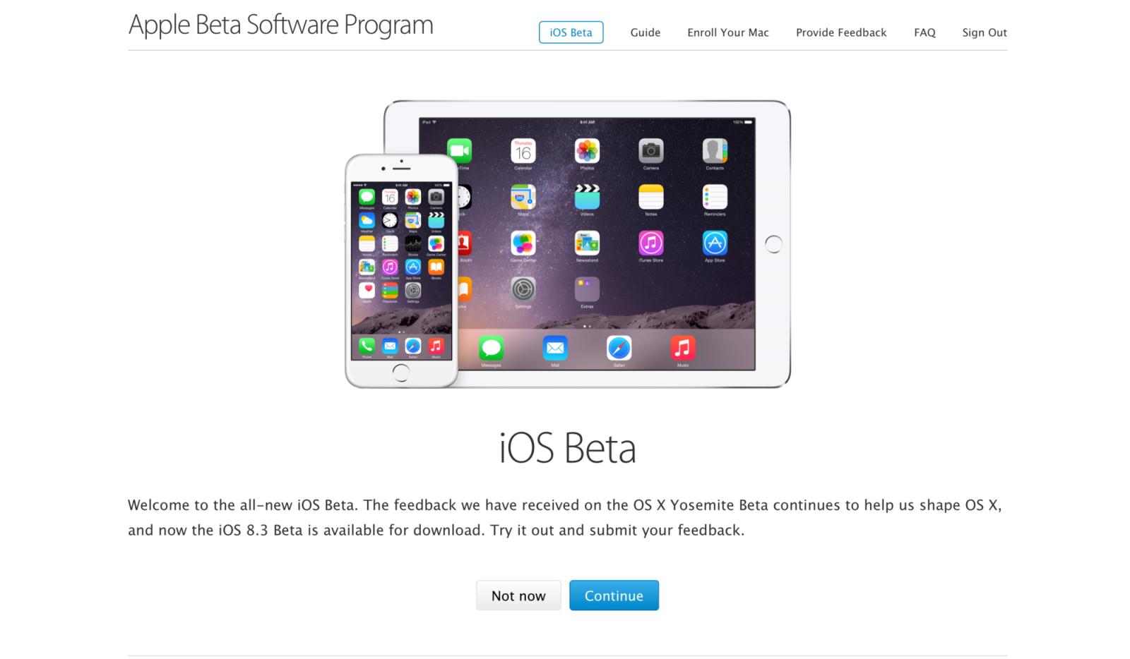 iOS Beta Program