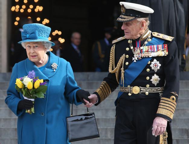 queen prince philip holding hands