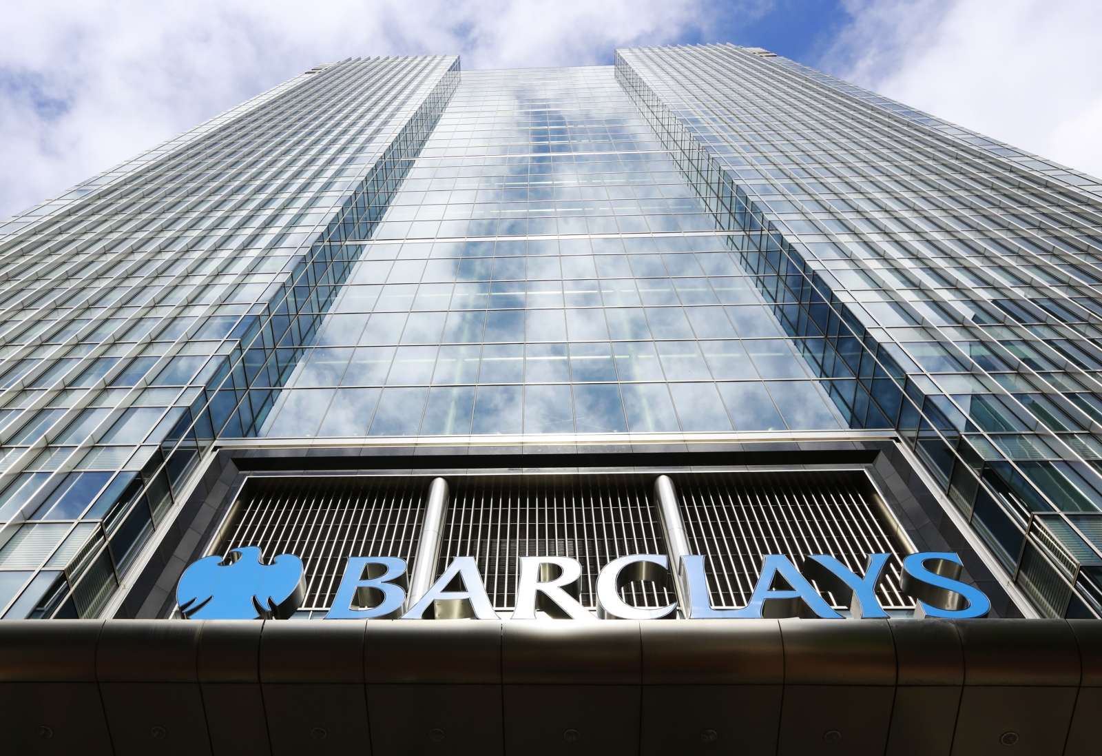 Barclays bank headquarters in Canary Wharf