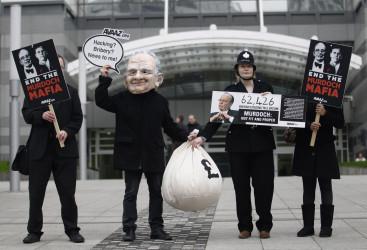 Rupert Murdoch Protest News International London