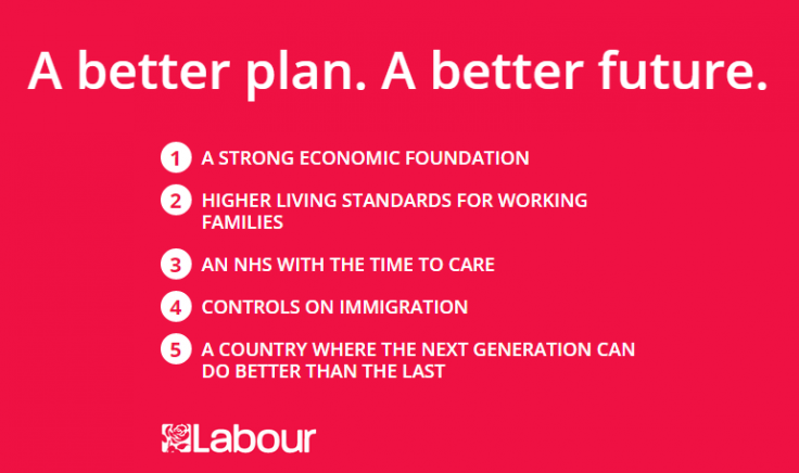 Labour pledge card 2015
