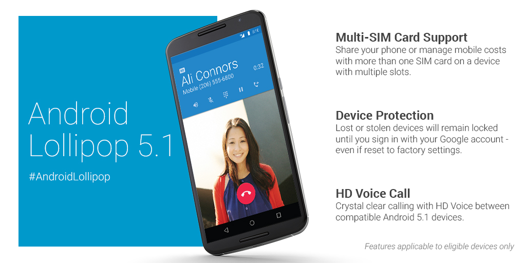 Android 5.1 HD Voice Calling