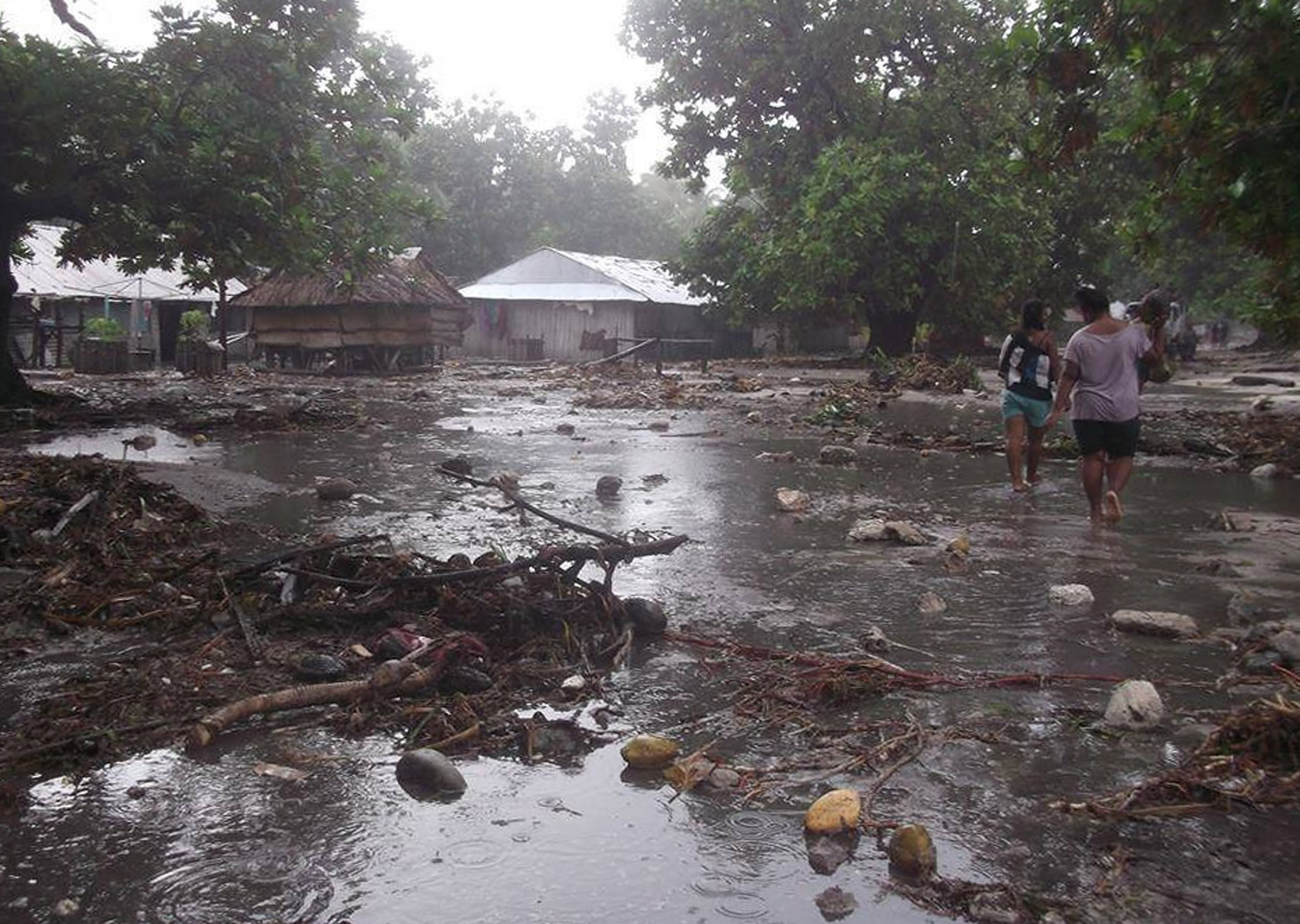 The devastation caused by Cyclone Pam inVanatu