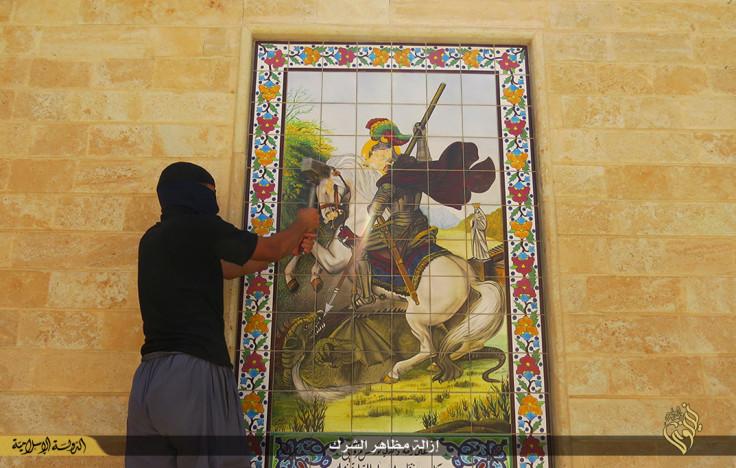 Isis St George mural monastery