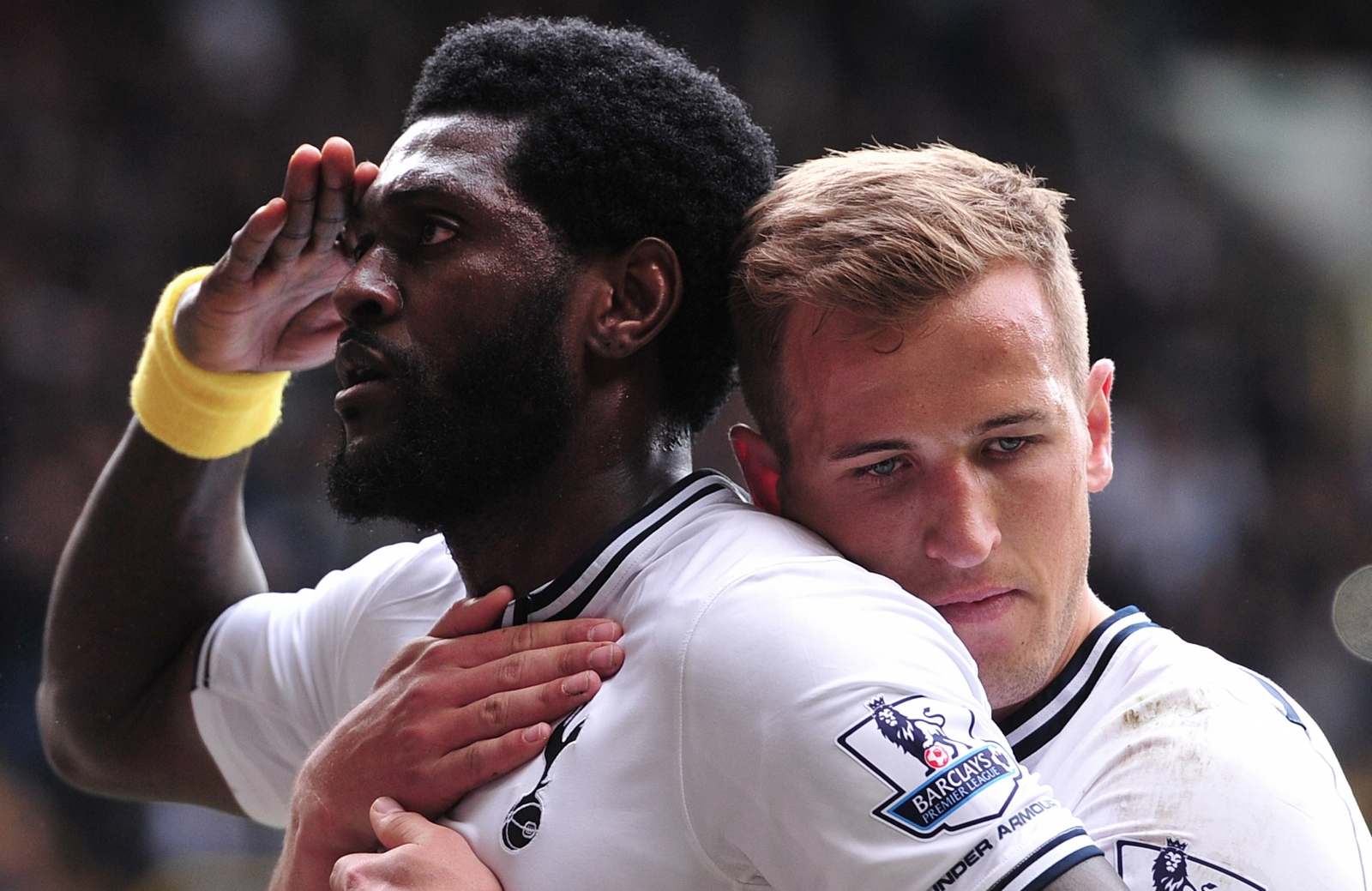 Emmanuel Adebayor and Harry Kane