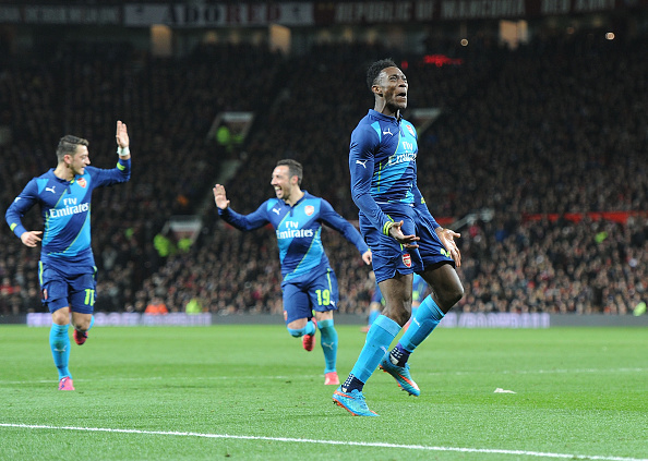 Danny Welbeck scored at Old Trafford