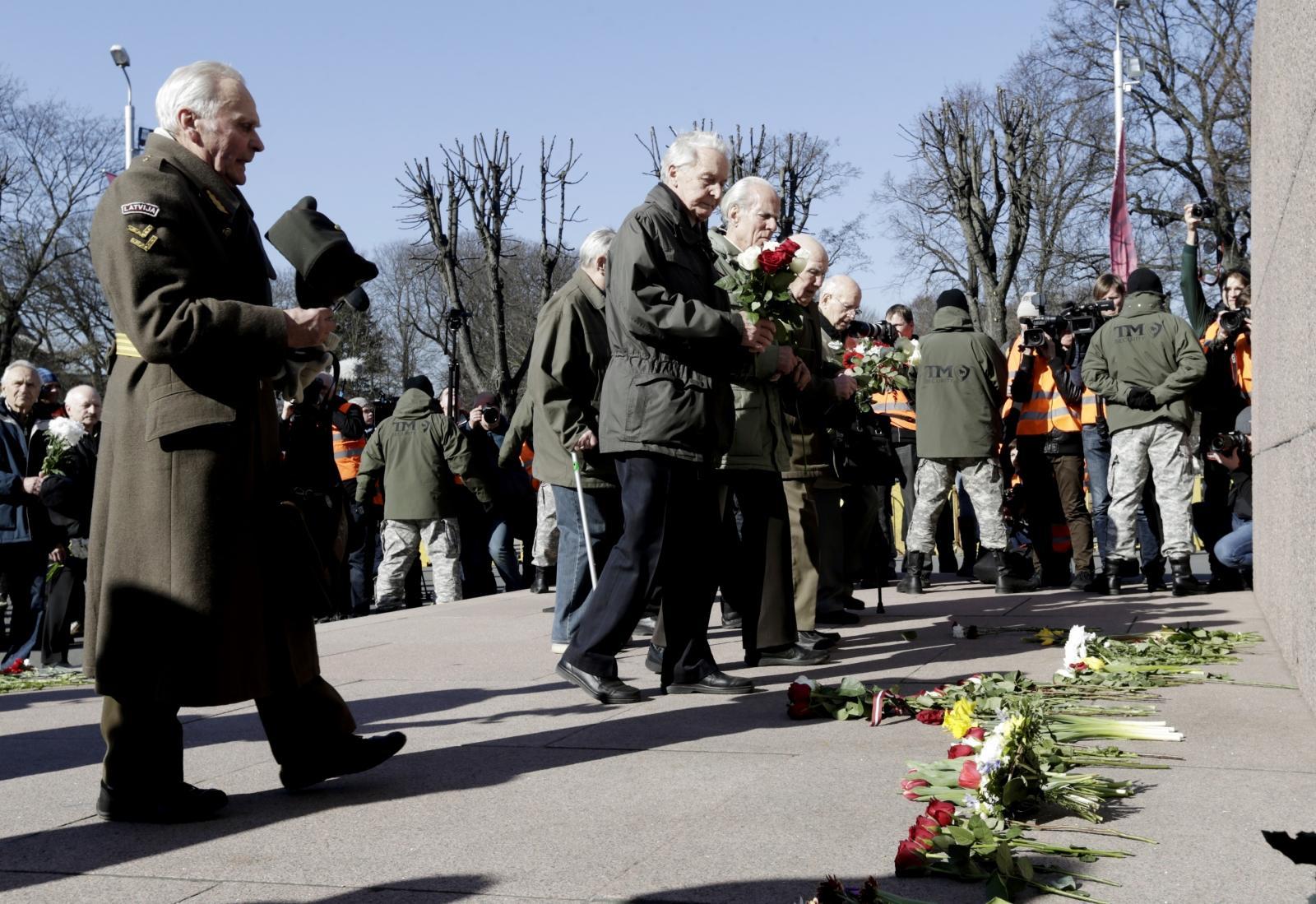 Latvia Nazi march 2015