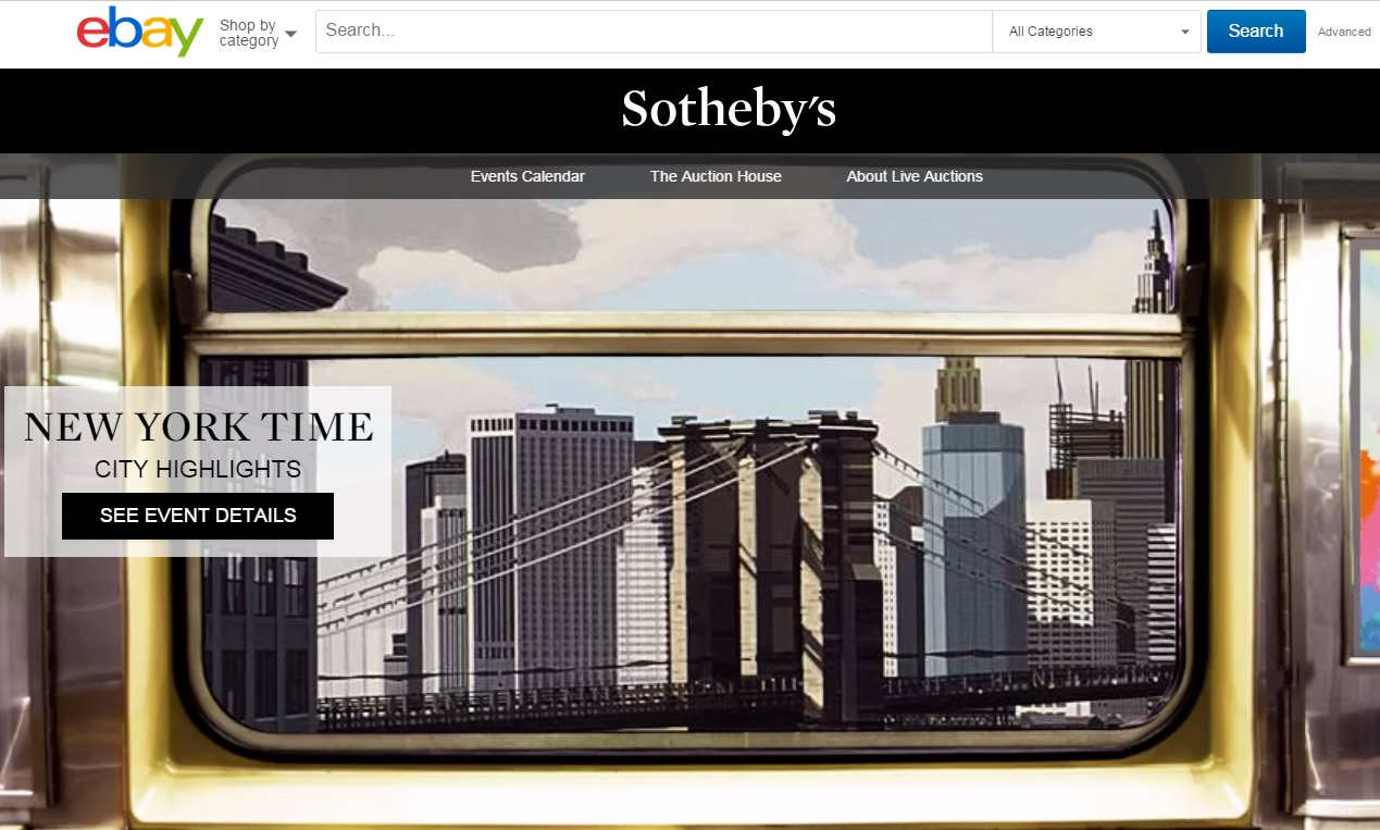 Ebay To Host Live Online Auctions For Sotheby S