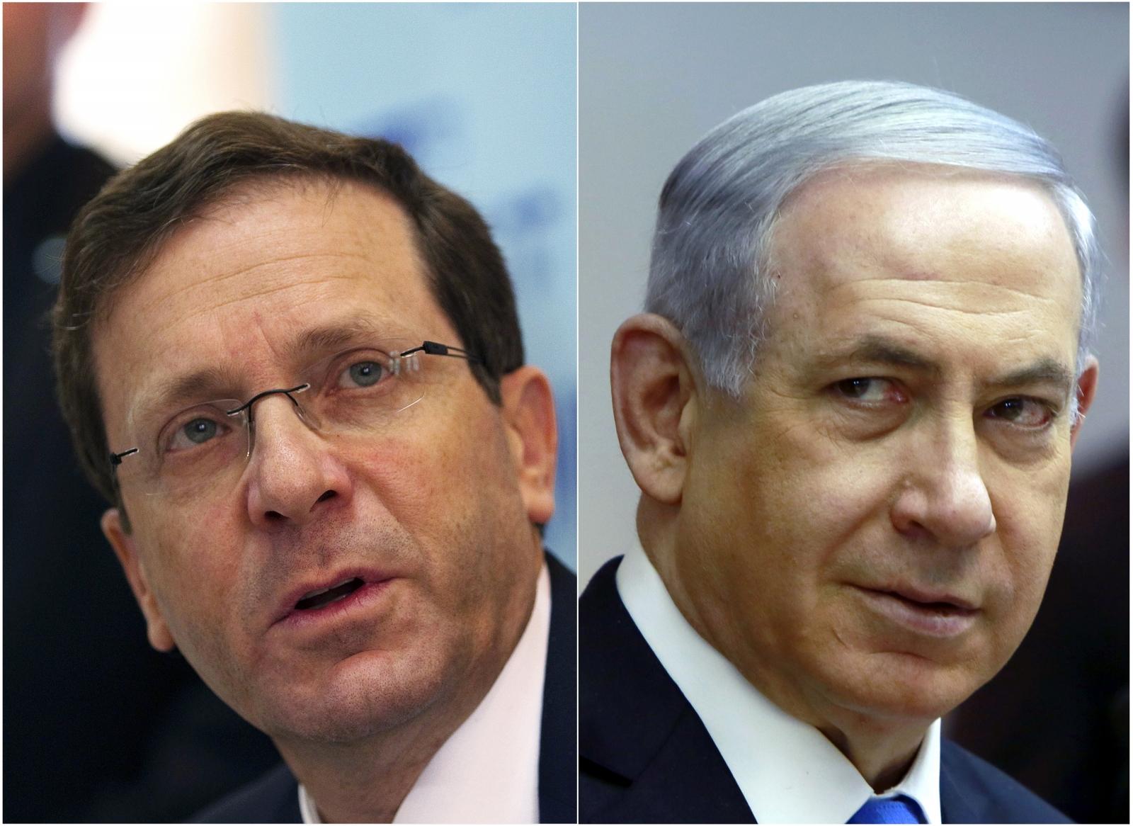 Isaac Herzog Benjamin Netanyahu Israeli elections