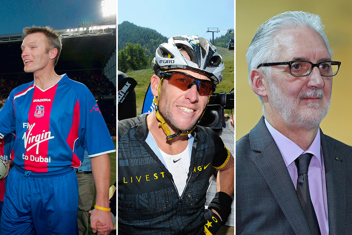 Geoff Thomas, Lance Armstrong and Brian Cookson