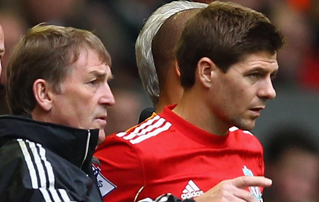 Kwenny Dalglish and Steven Gerrard