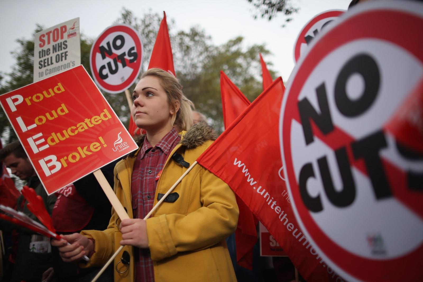 austerity march women