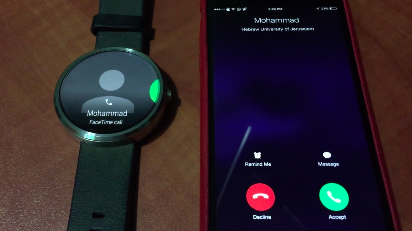 moto 360 with iphone moto 360 accepts incoming calls from iphone 15709