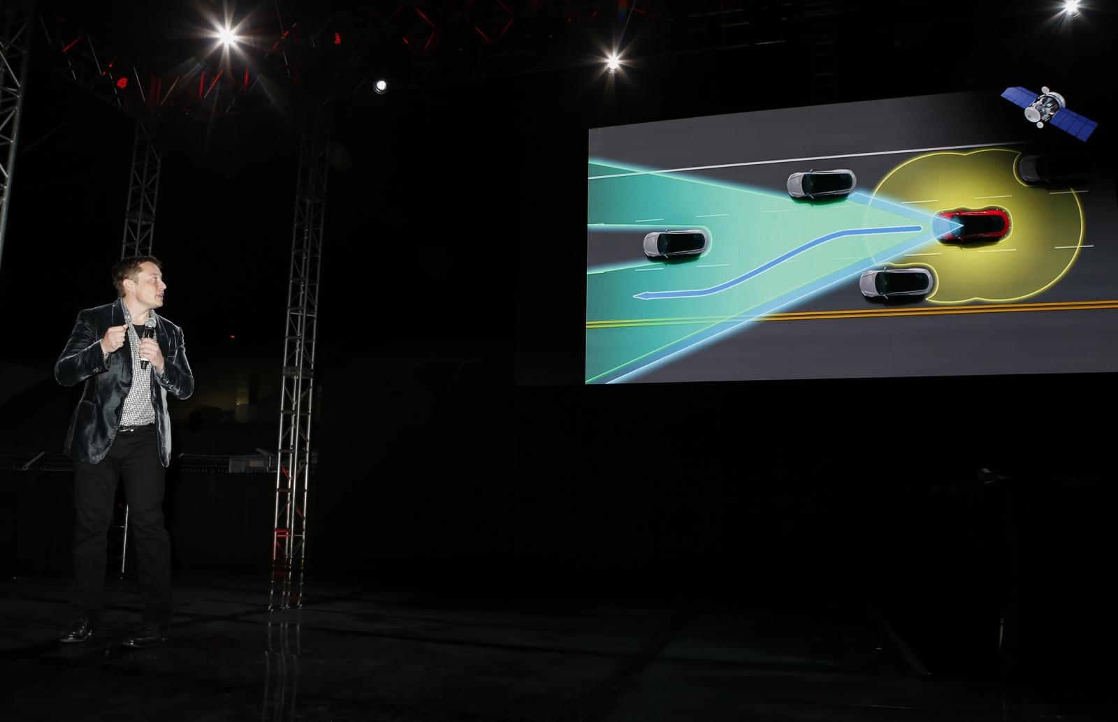 elon musk self-driving Tesla