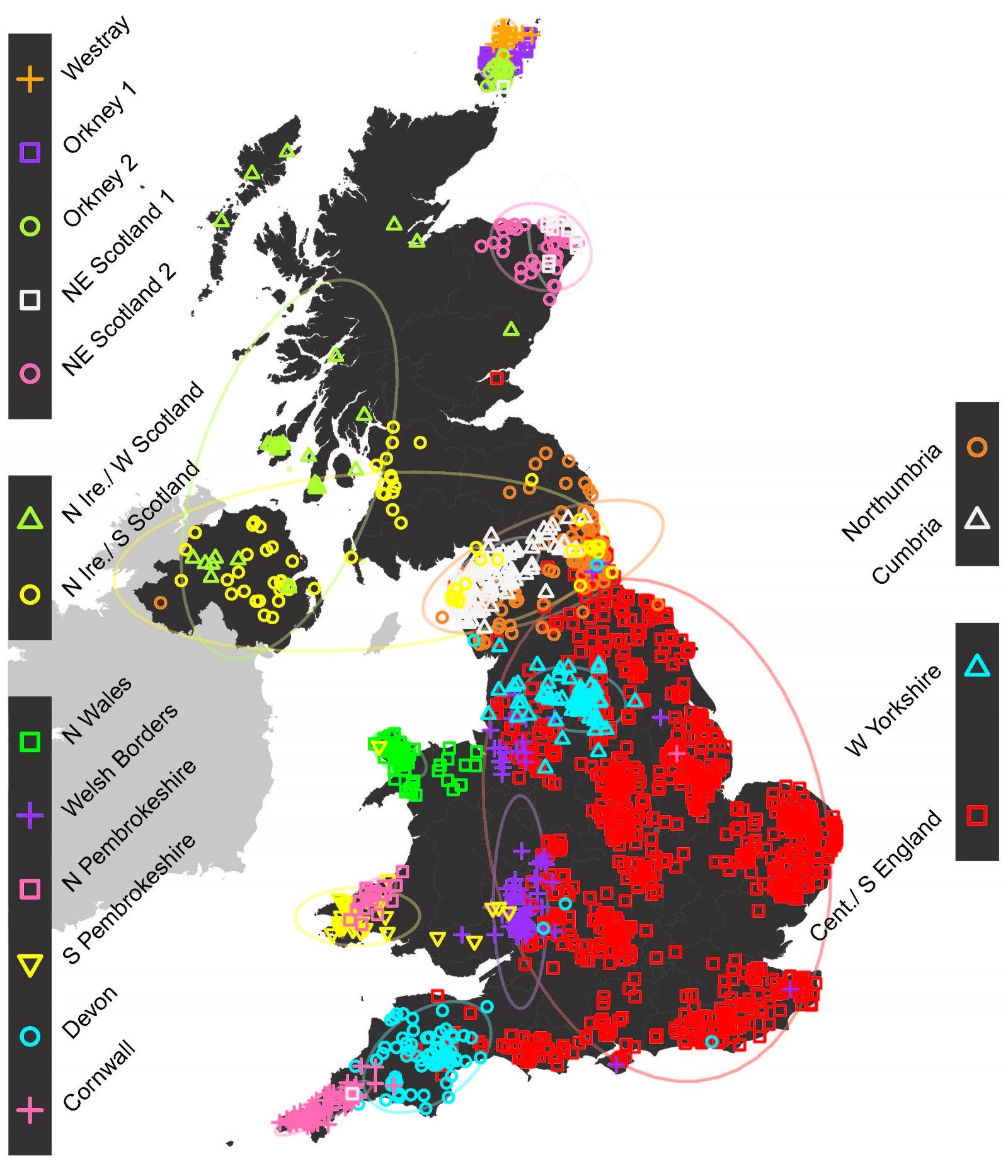 genetic map of british isles
