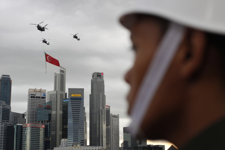 Singapore National Day flyover
