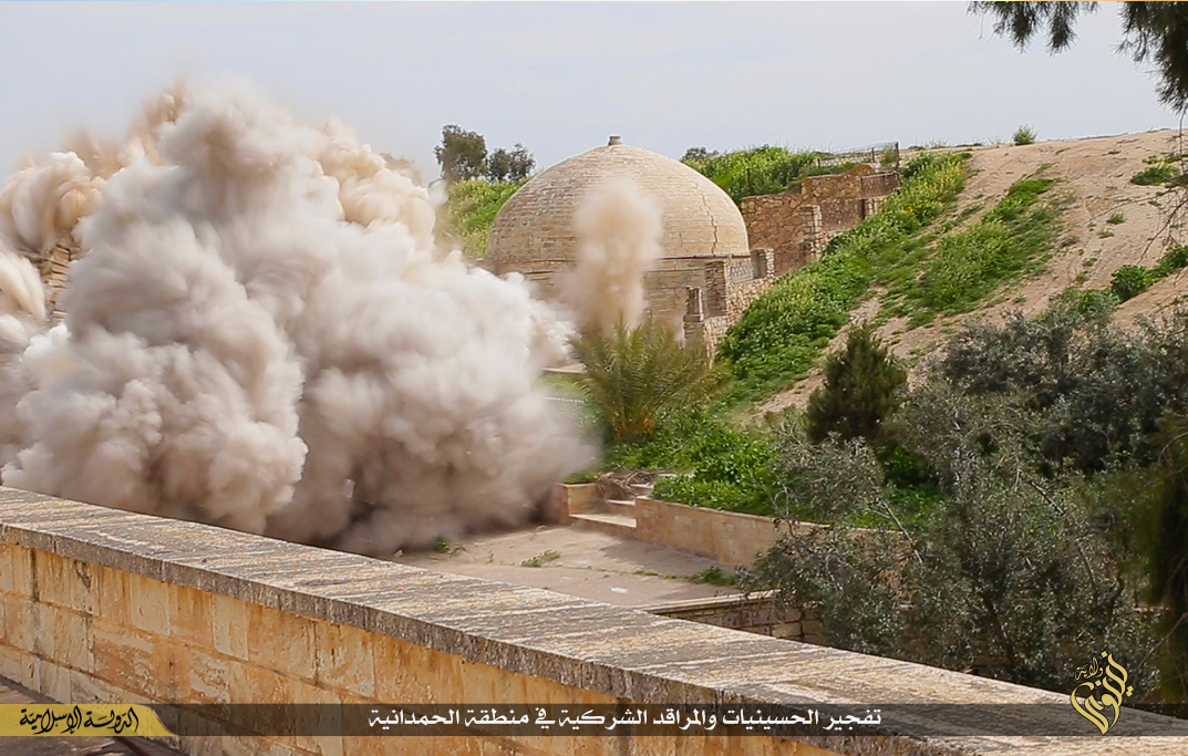 Behnam monastery Isis blown up