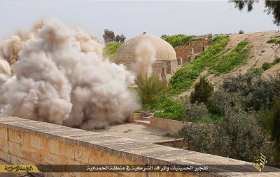 Behnam monastery Isis blown up