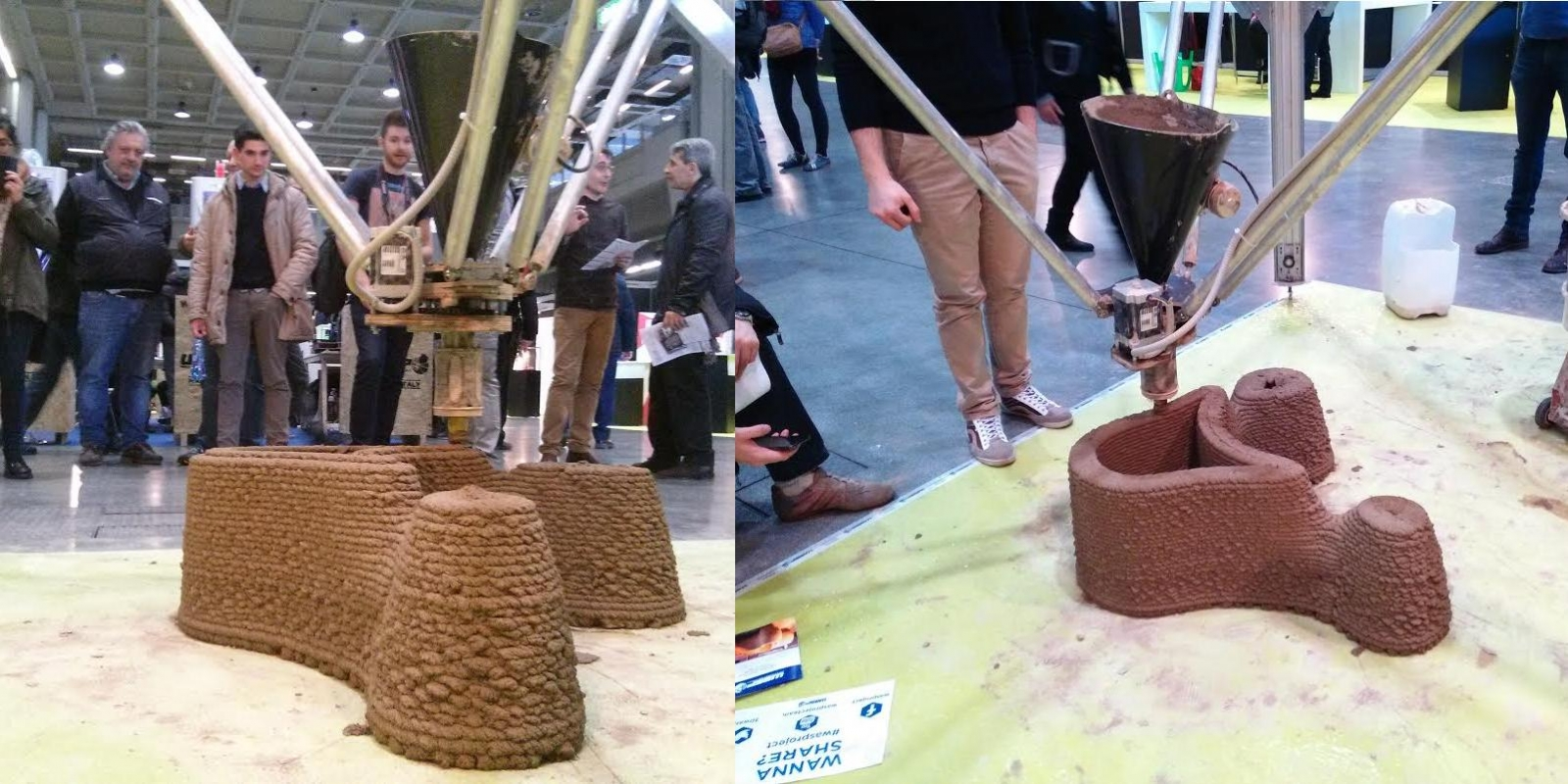Wasp's new 3D printer prints clay houses