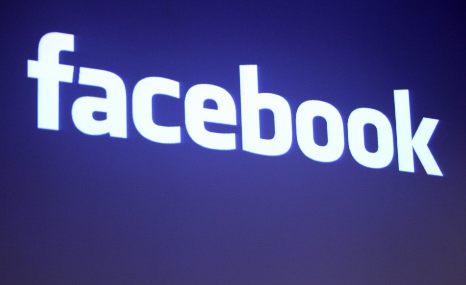 The Facebook logo is shown at Facebook headquarters in Palo Alto