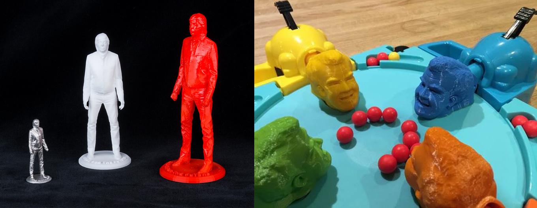 Sir Paul McCartney and Jeremy Clarkson 3Dprinted