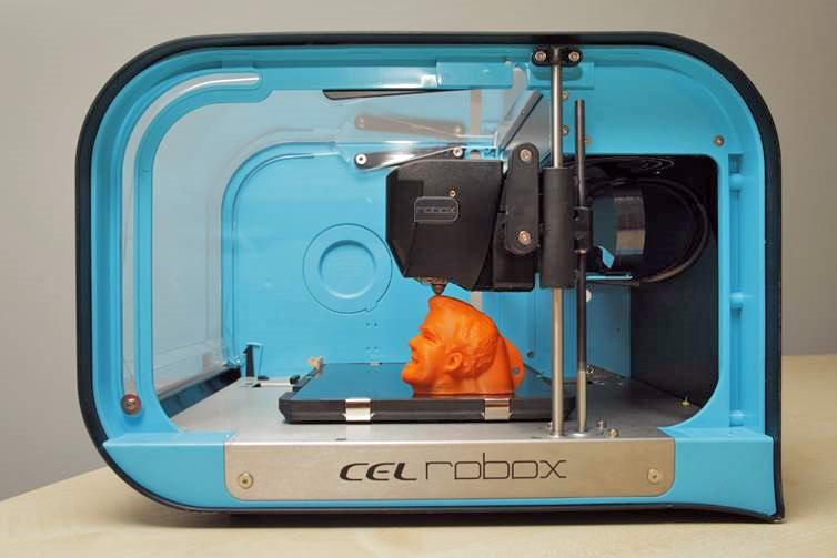 CEL Robox printing out Jeremy Clarkson's head