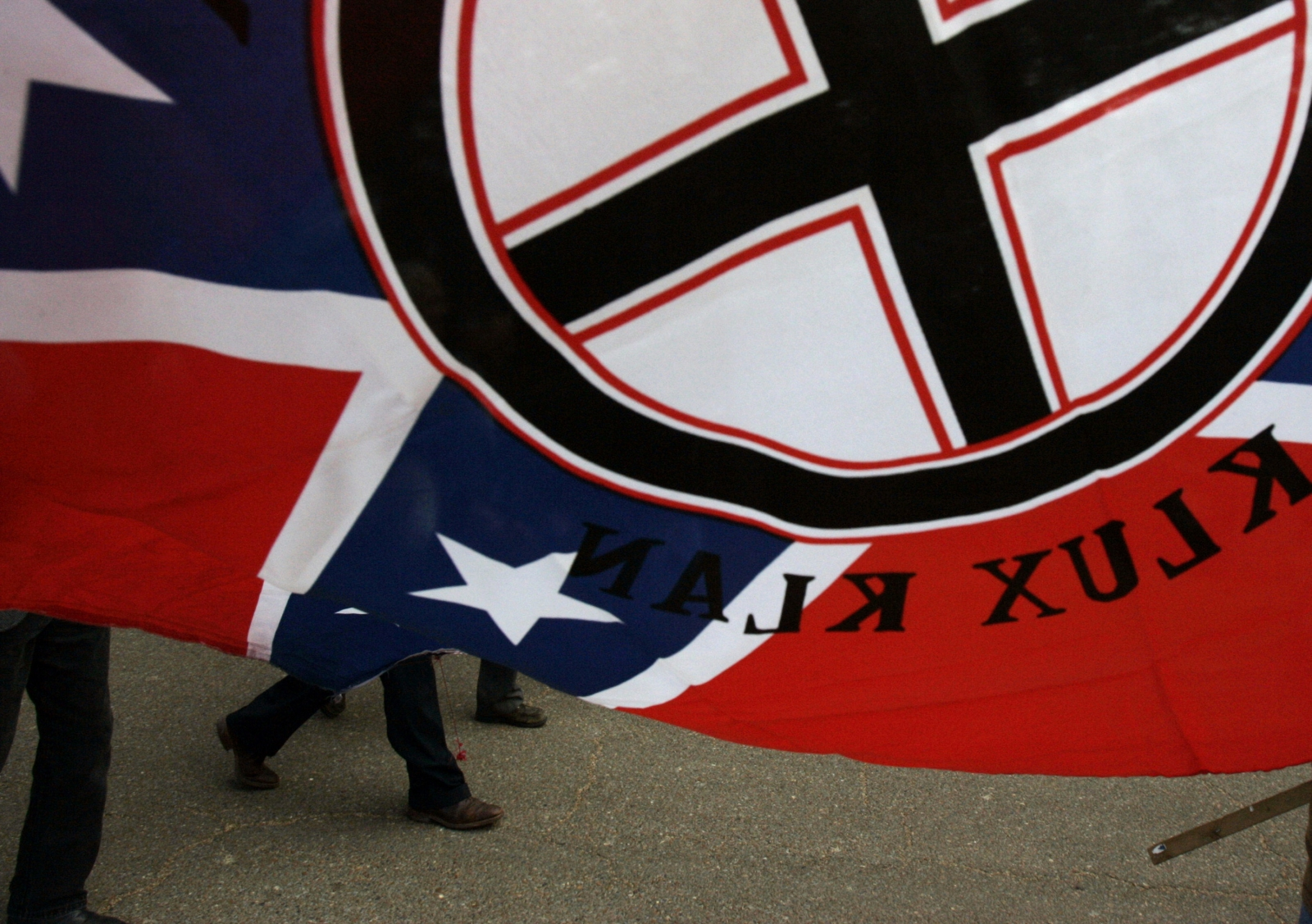 A white extremist rally in Louisiana