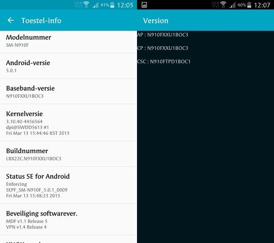 New Android 5 0 1 N910FXXU1BOC3 official build for Galaxy Note 4