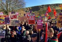 Anti facist march Edinburgh Scotland March 2015