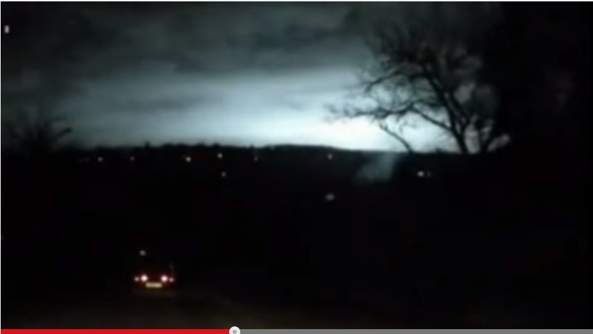 Southern Russia mysterious UFO flash light
