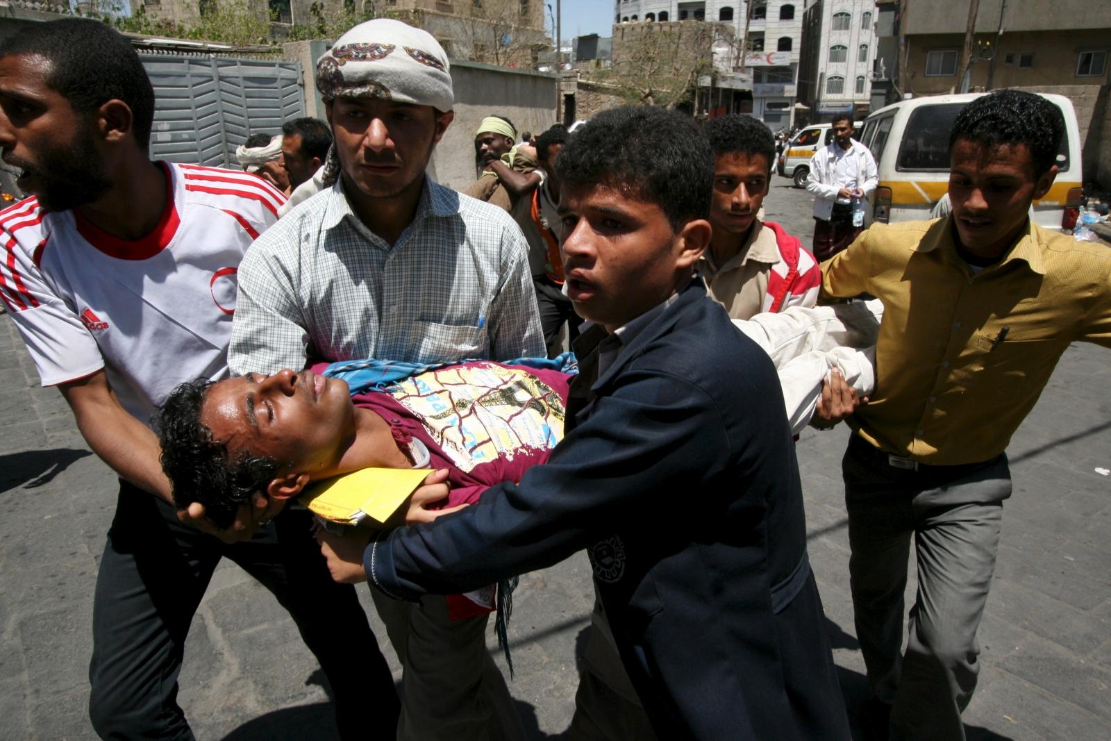 Taiz anti Houthi protest
