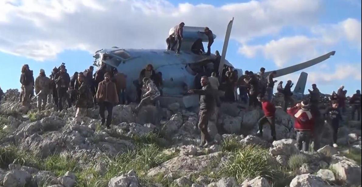 Idlib Syria helicopter