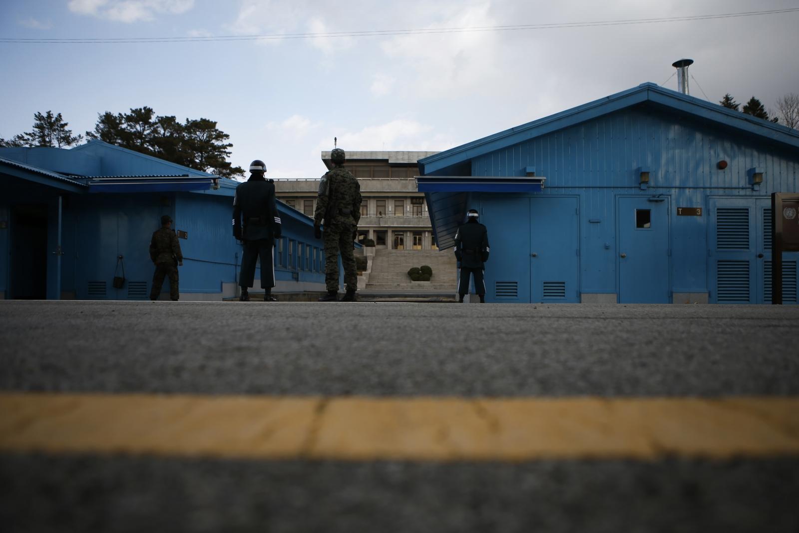 Mine blast North Korea border