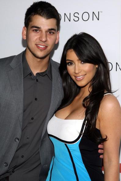 Kim Kardashian and Rob Kardashian