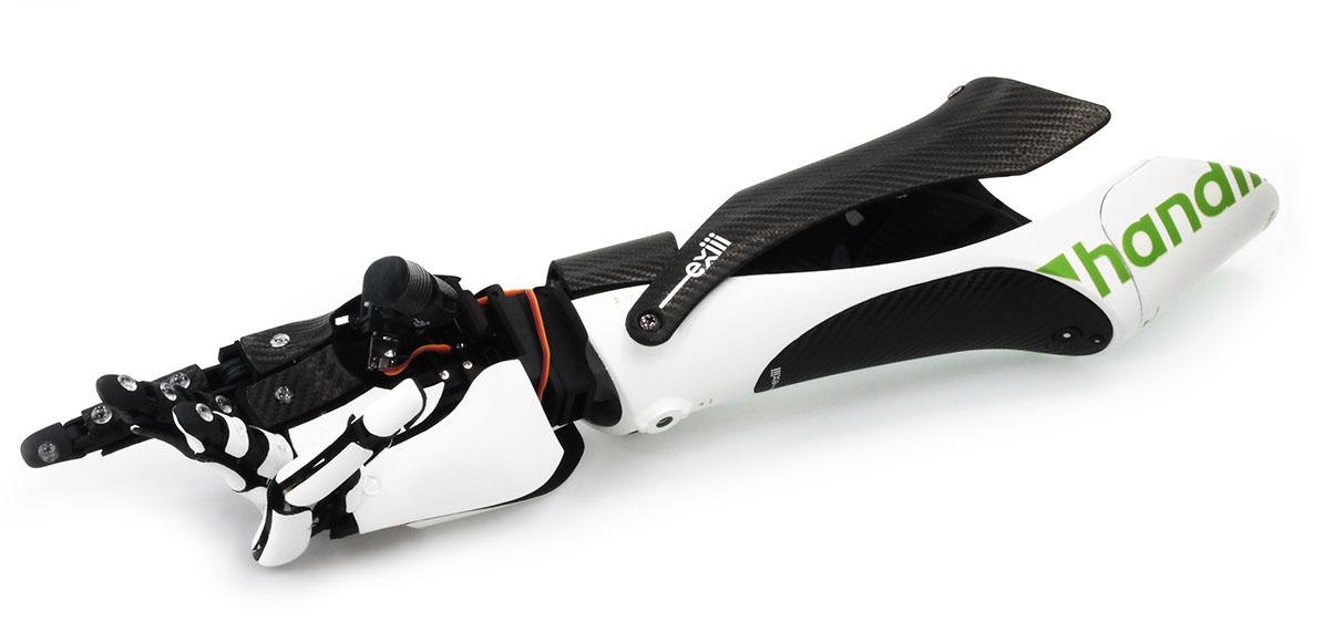 exiii handiii bionic arm smartphone