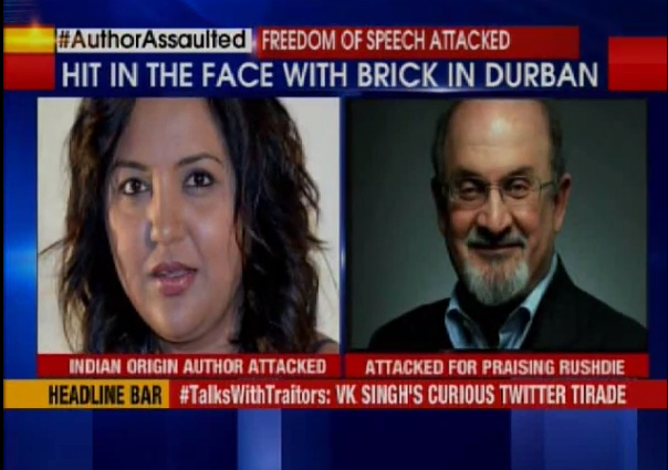 Zainub Priya Dala attacked  for praising SalmanRushdie