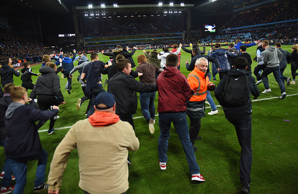 Aston Villa pitch invasion