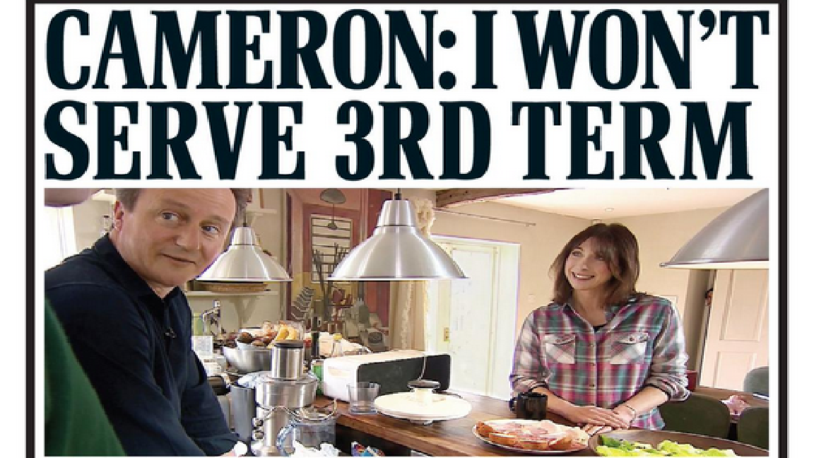 David Cameron's kitchen on Daily Mail today