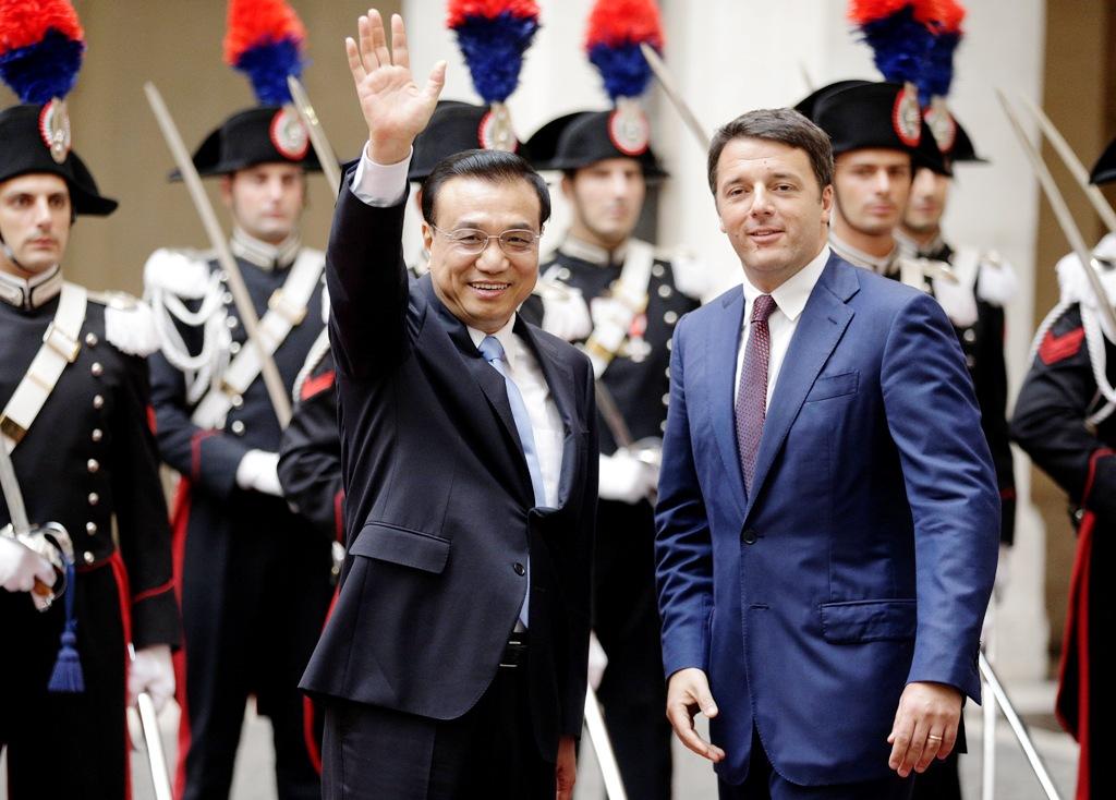 China Li Keqiang Italy Matteo Renzi