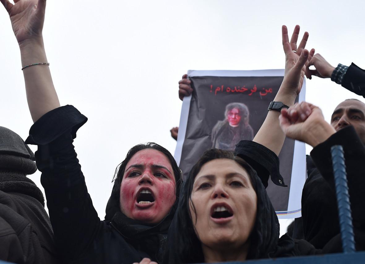 Afghan protestor 2