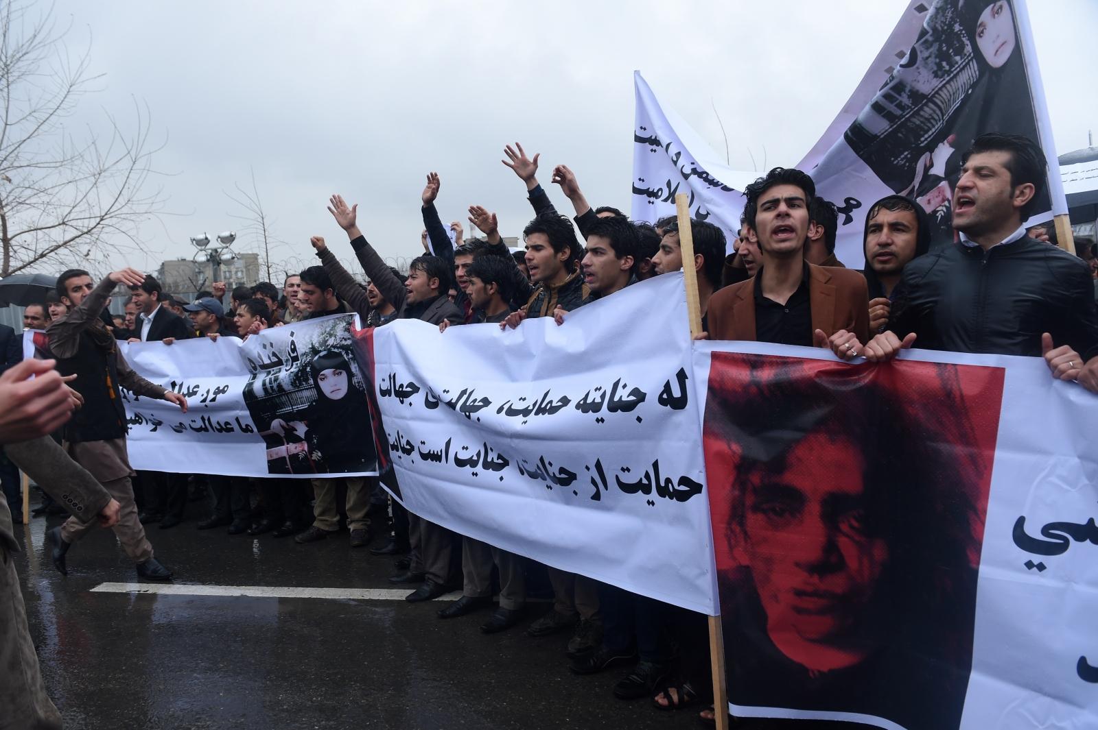 Afghani protestors