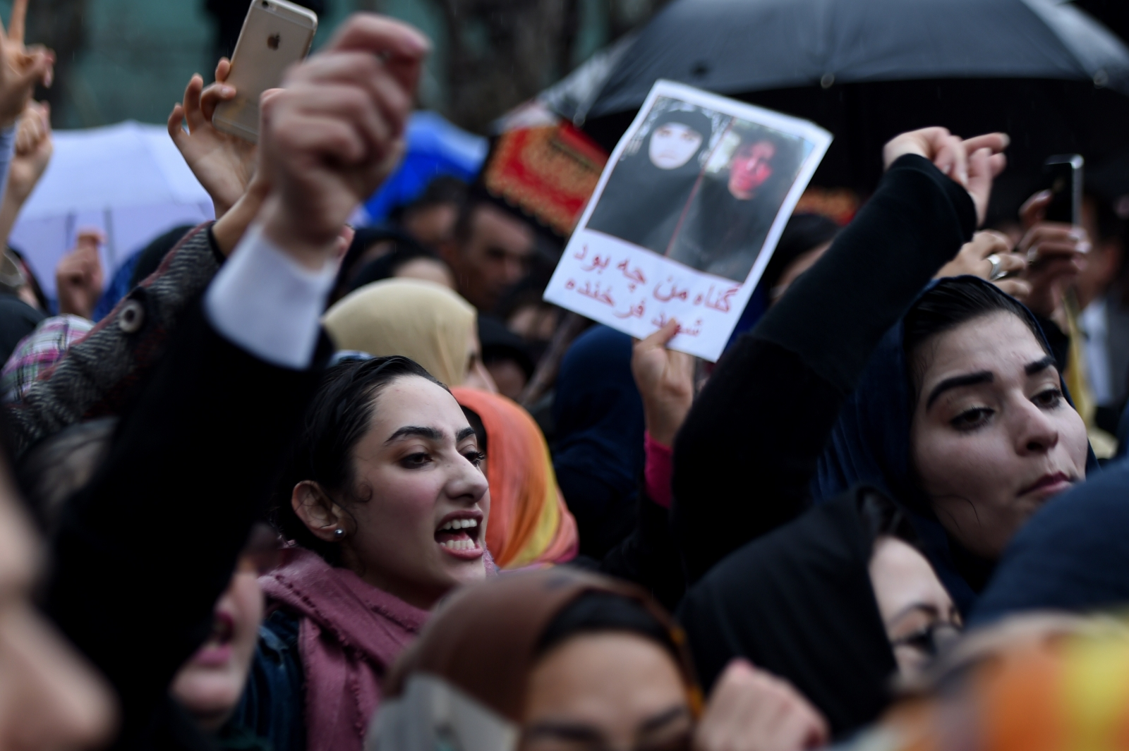 More Afghan protestors
