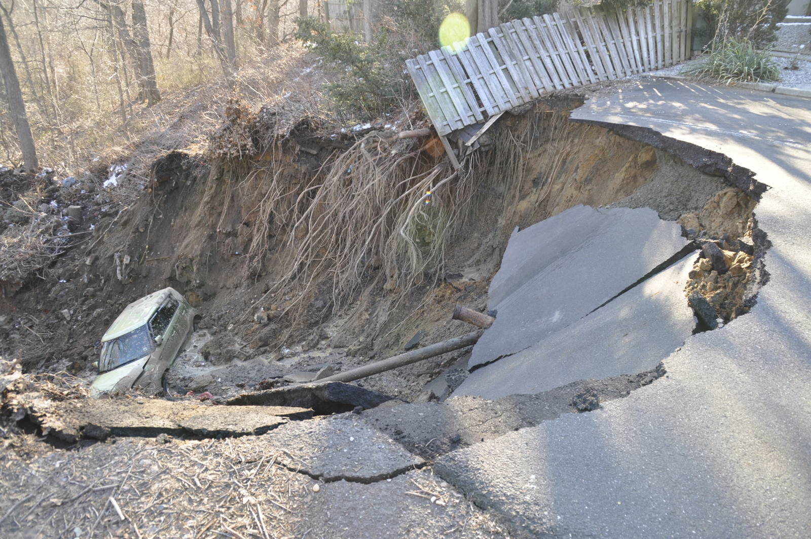 Large sinkhole in New Jersey