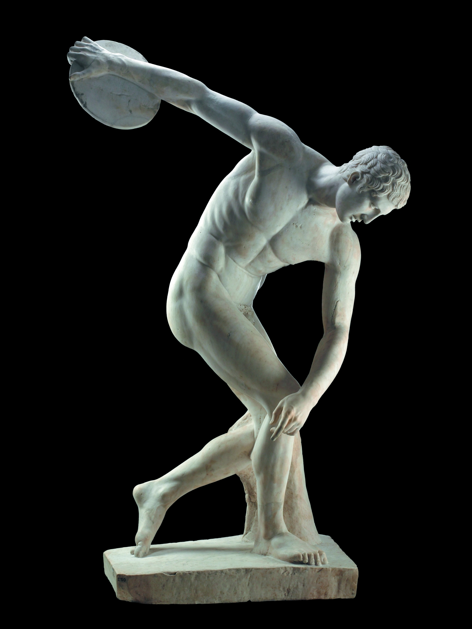 Marble statue of a discus-thrower