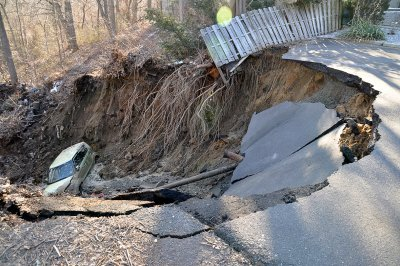 sinkholes and craters