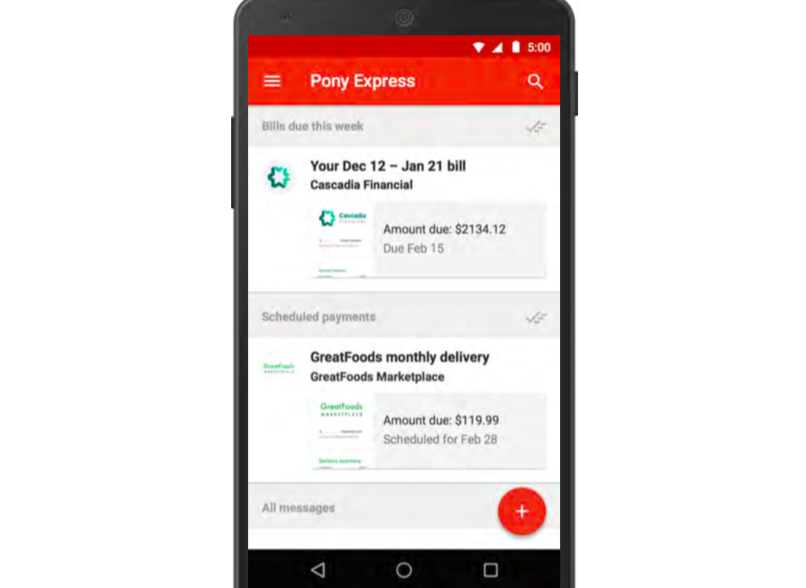 Pony Express: Paying bills on the app