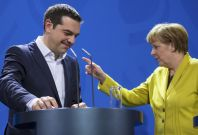 Alexis Tsipras Angela Merkel Greece Germany