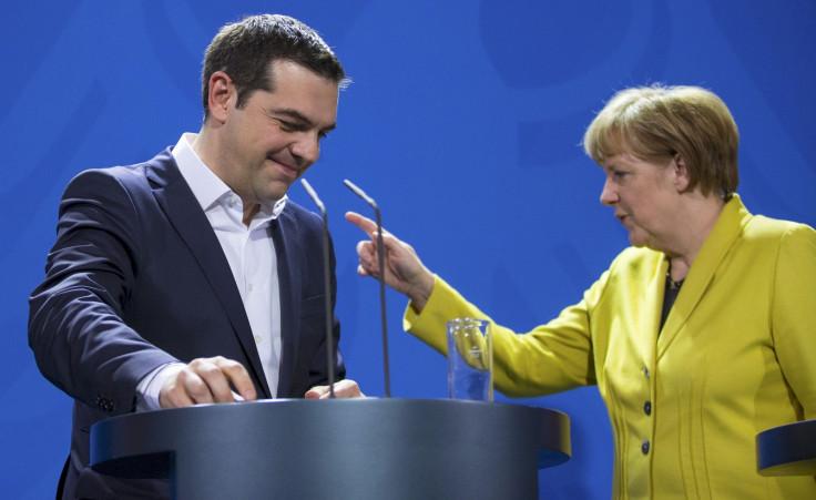 Alexis Tsipras Angela Merkel Greece Germany